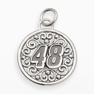 """Insignia Collection NASCAR Jimmie Johnson Sterling Silver """"48"""" Pendant"""