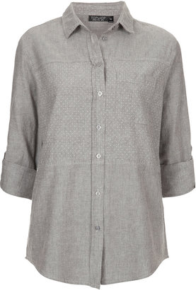 Topshop Casual Spot Chambray Shirt