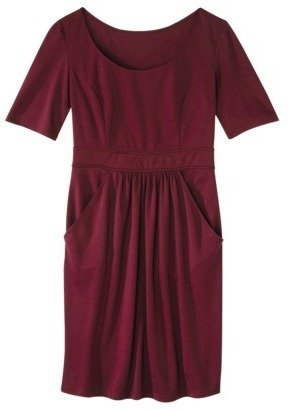 Mossimo Petites Elbow-Sleeve Ponte Dress - Assorted Colors