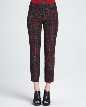 Nanette Lepore Paree Cropped Tweed Print Pants