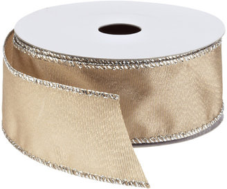 Container Store Ribbon Wired Shimmer Grosgrain Taupe