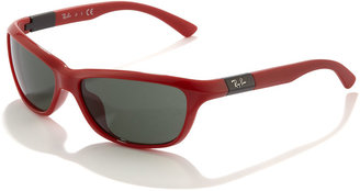 Ray-Ban Junior Oval Plastic Sunglasses, Red