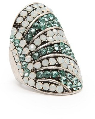MANGO TOUCH - Two-tone crystals ring