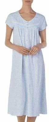 Eileen West Printed Cotton Ballet Nightgown