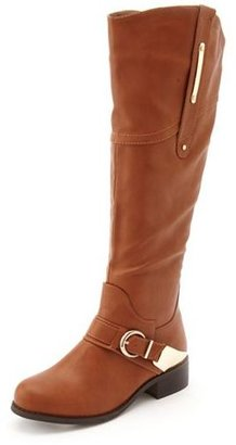 Charlotte Russe Metallic Stirrup Riding Boot