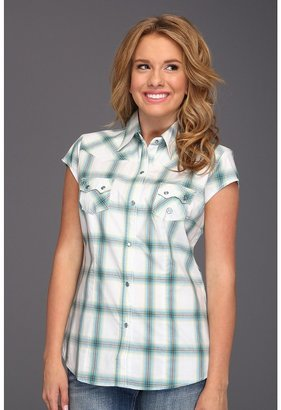 Roper 8564 Turquoise Canyon Plaid (Green 2) - Apparel