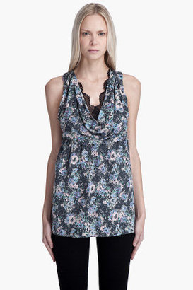 Vanessa Bruno Floral Cowl Neck BLOUSE