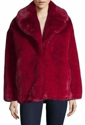 Diane von Furstenberg Long-Sleeve Faux Fur Jacket