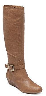 "Jessica Simpson Becki"" Tall Wedge Boot - Tan"