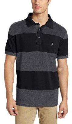 Nautica Men's Short Sleeve Wide Stripe Polo Shirt