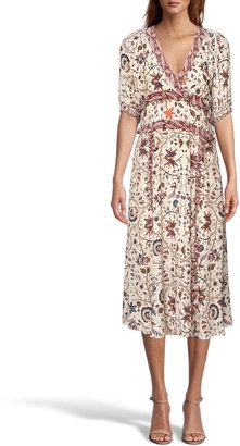 Nicole Miller Jakarta Print Georgette Midi Dress