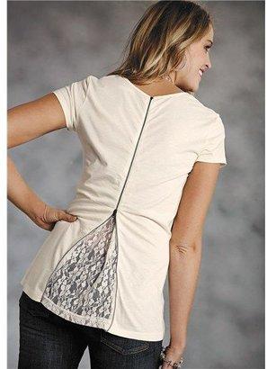 Roper Almost Heaven Shirt - Zip Back, Short Sleeve (For Women)