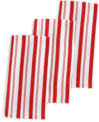 Martha Stewart Collection Martha Stewart Collection Set of 3 Basket Weave Red-Striped Kitchen Towels, Only at Macy's