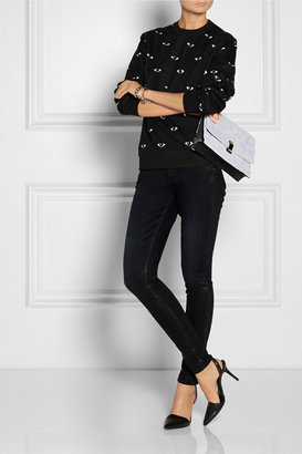 Paige Sienna coated mid-rise skinny jeans