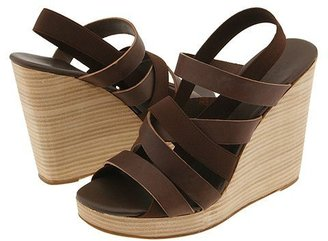 DKNY Bailey-strappy Wedge (Brown W/ Tan)