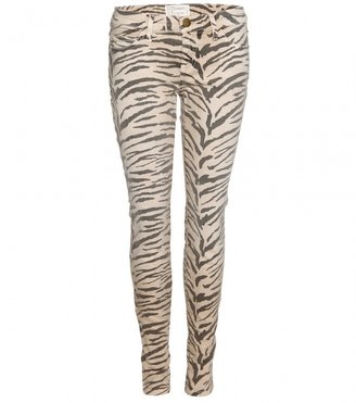 Current/Elliott THE ANKLE SKINNY JEANS WITH ANIMAL PRINT