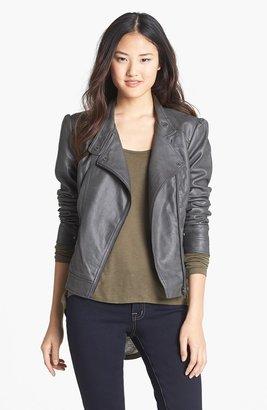 Jessica Simpson 'Trey' Faux Leather Moto Jacket