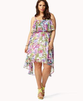 Forever 21 Ruffled Tropical Dress