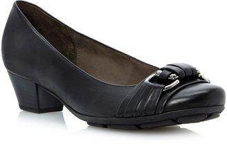 Gabor Focus buckle trim court shoes