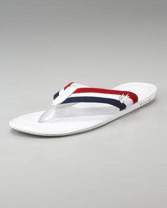 Lacoste Carros Striped Flip-Flop