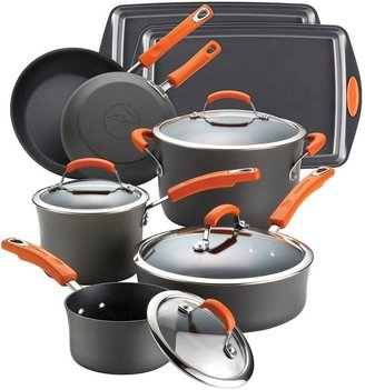 Rachael Ray 12-pc. Nonstick Hard-Anodized Cookware Set