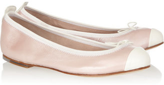 Bloch Two-tone leather ballet flats
