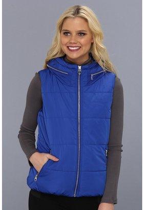 Calvin Klein Poly Vest w/ Expansion Hood CW303811 (Black) - Apparel