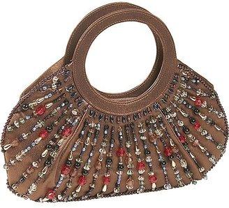 Savanna Beaded Ring Handle Evening Bag