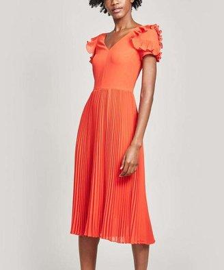 Proenza Schouler Pleated Short-Sleeve Midi-Dress