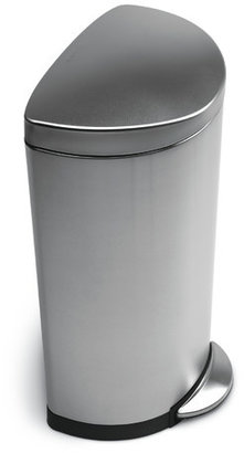 Simplehuman 30 L / 7.9 Gal, Semi Round Step Trash Can, Stainless Steel