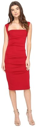 Nicole Miller Sleeveless Jersey Tuck Dress