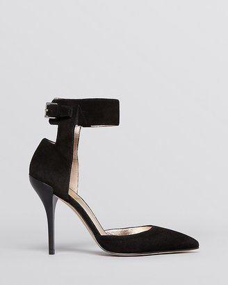 Joan & David Pointed Toe Pumps - Arant Ankle Strap High Heel