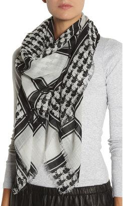 Karl Lagerfeld Printed wool scarf