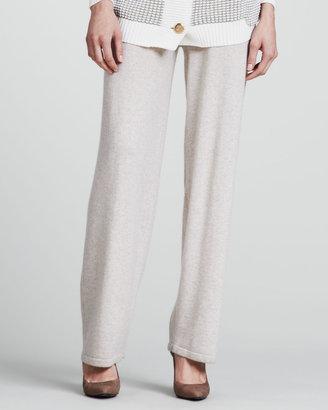 Escada Cashmere Spa Pants, Medium Brown