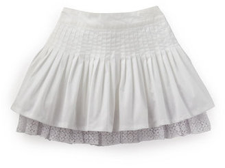 D&G Tiered-hem Poplin Skirt