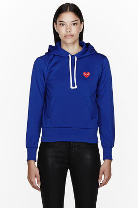 Comme des Garcons Royal blue Red Emblem Hoodie