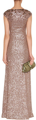 Jenny Packham Pebble Allover Sequined Gown