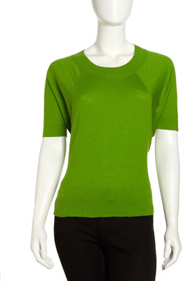 Lafayette 148 New York Dolman-Sleeve Sweater, Sprout