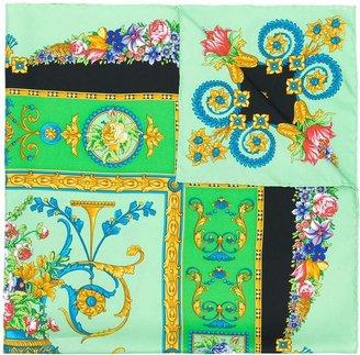 Versace Pre-Owned 1980's floral urn print scarf