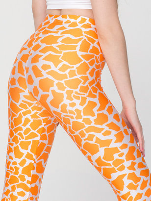 American Apparel Giraffe Print Nylon Leggings