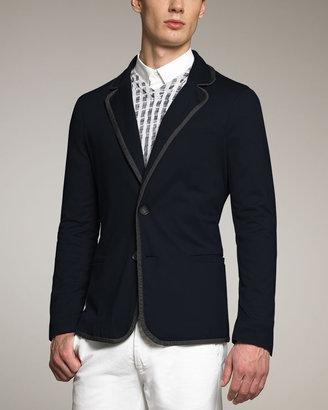 Giorgio Armani Piped Jersey Jacket