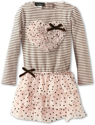 Kate Mack Confetti Hearts Baby Dress (Toddler) (Pink) Girl's Dress