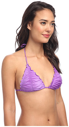 Seafolly Shimmer Shirred Solid Tri Top