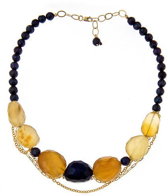 MINU Jewels Blue Agate and Chalcedony Raw Necklace