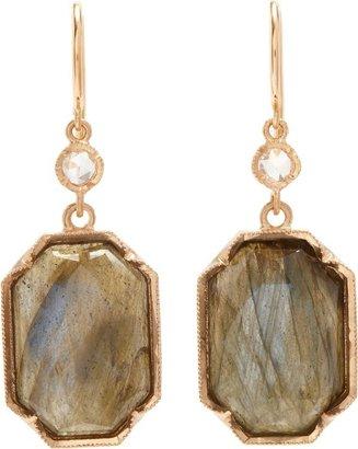 Irene Neuwirth Octogonal Double-Drop Earrings-Colorless