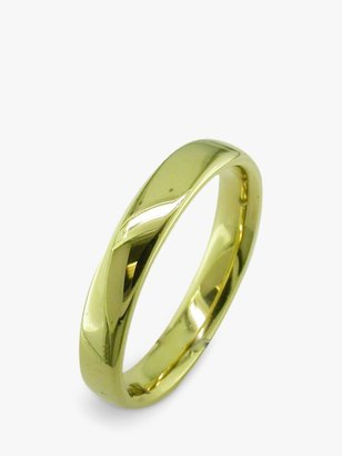 E.W Adams 18ct Yellow Gold 4mm Larger Sized Court Wedding Ring, Yellow Gold