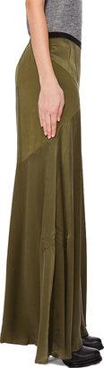 Proenza Schouler Olive Long Flare Skirt