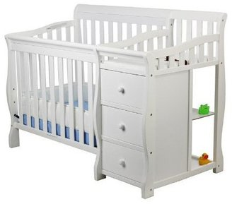 Dream On Me Jayden 2 in 1 Convertible Portable Crib with Changer