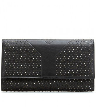 Yves Saint Laurent STUDDED LEATHER CLUTCH