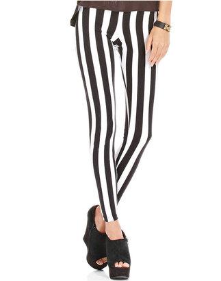 Planet Gold Juniors Pants, Striped Leggings